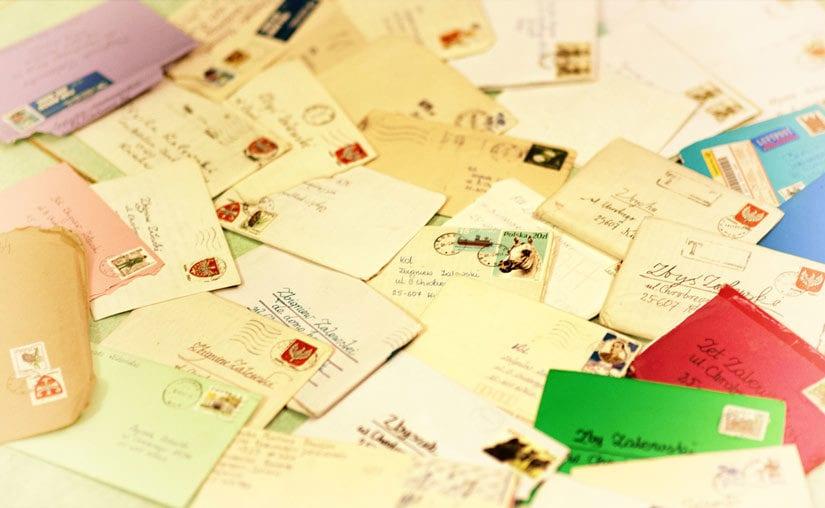 Dawne listy i… potępienie e-maila
