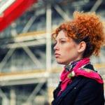 Kobieta zokolic Pompidou